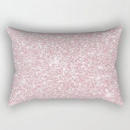 Elegant blush pink abstract trendy girly glitter Rectangular Pillow