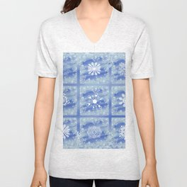 Frosted Panes Unisex V-Neck