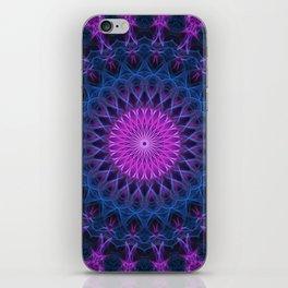 Dark pink and blue mandala iPhone Skin