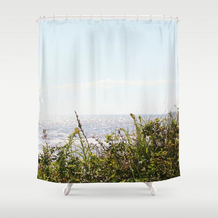 The Ocean Calls (Summer) Shower Curtain