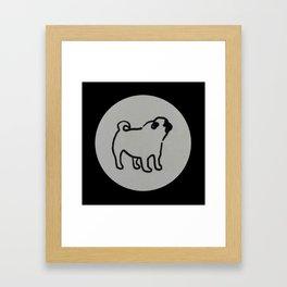 pug polka dot Framed Art Print