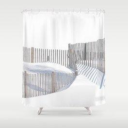 Winter Beach 2015 Shower Curtain