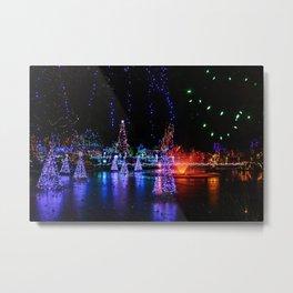 frozen pond lights Metal Print