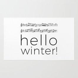 Hello winter! (white) Rug
