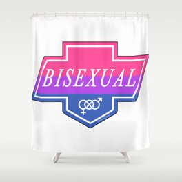 Identity Stamp: Bisexual Shower Curtain