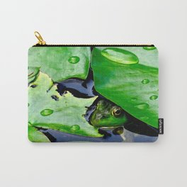 Peek  A Boo frog Carry-All Pouch