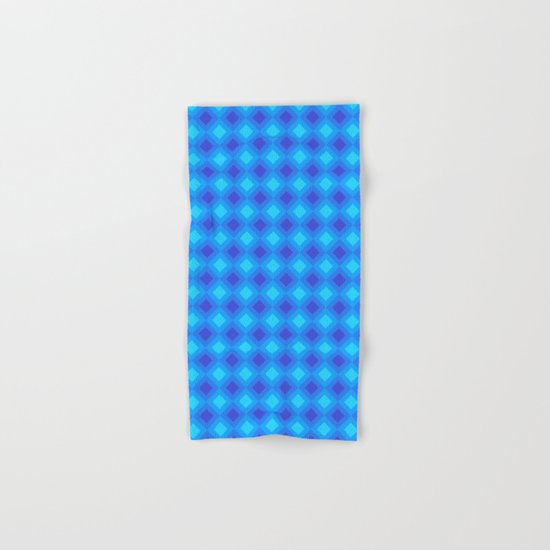 Dark Blue Cubes - Geometric Work Hand & Bath Towel