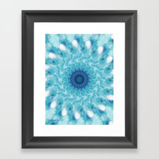 Celestial Joy Mandala Framed Art Print