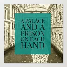 Venice Memories: A Palace and a Prison on each hand Canvas Print