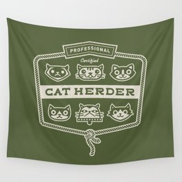 Professional Cat Herder Wall Tapestry