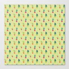 Cactus Party Pattern Canvas Print