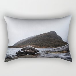 Misty Irish lake Rectangular Pillow