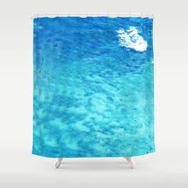 Exotic French Polynesia South Pacific Ocean Waters Shower Curtain