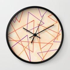 Warm Triangles Wall Clock