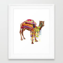 Moroccan Party Camel Framed Art Print