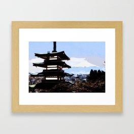 Japanese Landscape Framed Art Print