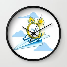 Times Flies Wall Clock