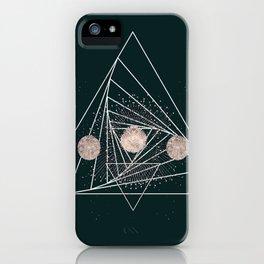 Moon Matrix iPhone Case
