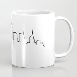 One Line - New York Skyline Coffee Mug