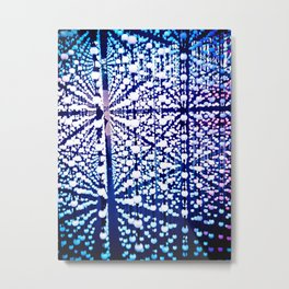 The madness of blue marbles Metal Print