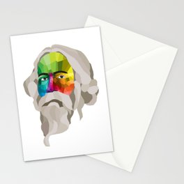 Rabindranath Tagore - popart portrait Stationery Cards