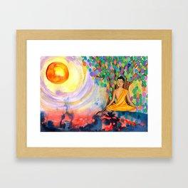 Little Buddha Framed Art Print