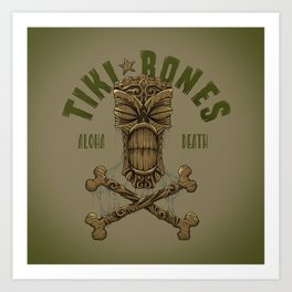 Tiki Bones Art Print