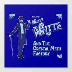 Walter White and the Crystal Meth Factory Canvas Print