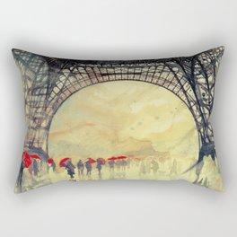 Winter in Paris Rectangular Pillow