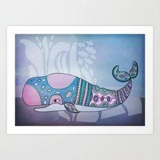 a whale Art Print
