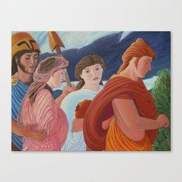 Four More Walking Deities Canvas Print