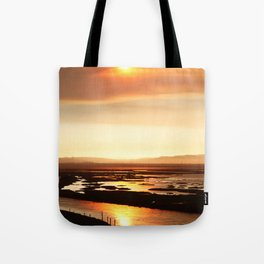 River on Fire 2 Tote Bag