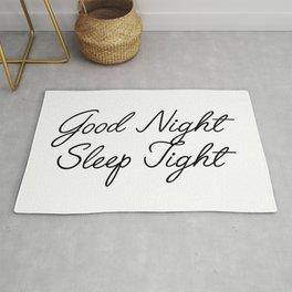 good night sleep tight Rug