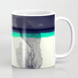 Modern Abstract Sea Coral Reef on Beach Background Coffee Mug