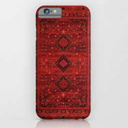 Red Traditional Oriental Moroccan & Ottoman Style Artwork. iPhone Case