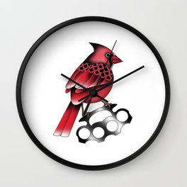 Cardinal and knuckle duster Wall Clock