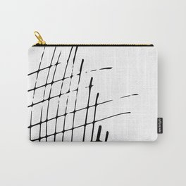 Grid Sketch Black and White Carry-All Pouch