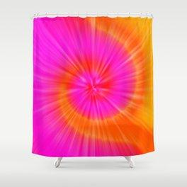 TIE DYE #1 (Fuchsias-Magentas, Reds & Oranges) Shower Curtain