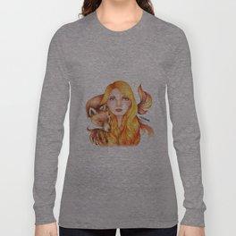 """Element Girls Drawing - """"Fire"""" Long Sleeve T-shirt"""
