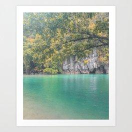 Underground River Palawan Art Print