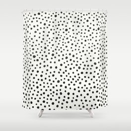 Black Dots Abstract 1 Shower Curtain