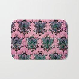 Pink Lotus Damask Bath Mat