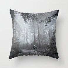 seeking silence Throw Pillow