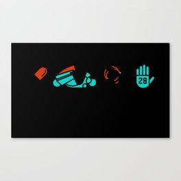 Akira, Four Icon Challenge Canvas Print