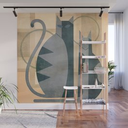 The Mysterious Minds Of Modern Cats Wall Mural