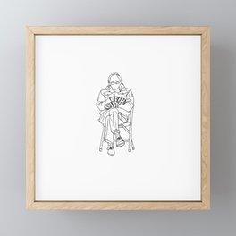 Bernie Sanders Mittens, Bernie Inauguration Meme, Funny Bernie Mood Framed Mini Art Print