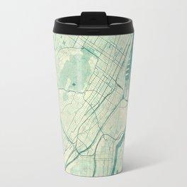 Montreal Map Blue Vintage Travel Mug