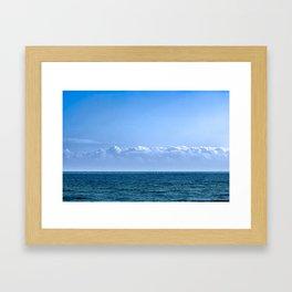 Large Cloud Sky Framed Art Print