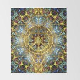 Sacred Geometry Fractal Mandala Throw Blanket