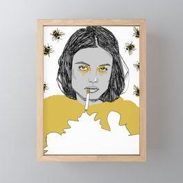 Honeybee Framed Mini Art Print
